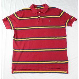 POLO by Ralph Lauren Red & Yellow Stripe polo Sz L